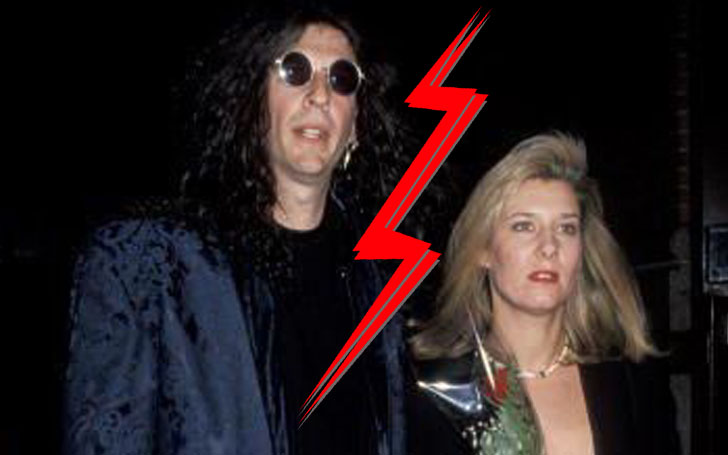 Divorced husband and wife: Howard Stern and Alison Berns