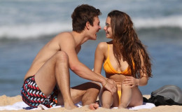 Caught Kissing On The Beach-Ansel Elgort With His Dancer Girlfriend