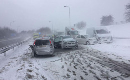 Twenty Casualties After 16 Vehicles Pile Up On Storm Emma-Hit M66 In UK