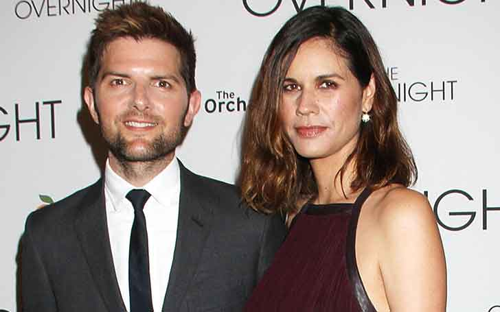 5.10 ft. Tall Hollywood Actor Adam Scott Is Married To Wife Naomi Scott Since 2005; Has Two Children