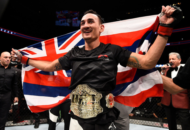Max Holloway Crowned The New UFC Featherweight Champion; His Wife and Son are his Inspiration