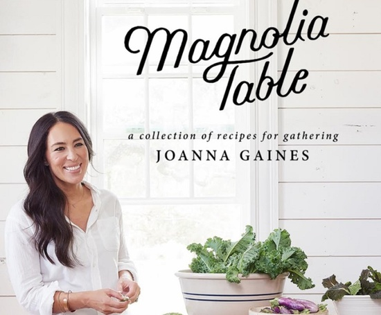 joanna gaines reveals the cover of her first cookbook magnolia table. Black Bedroom Furniture Sets. Home Design Ideas