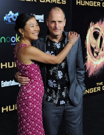Laura Louie; Wife of Woody Harrelson; see her Married life with Husband and three Children