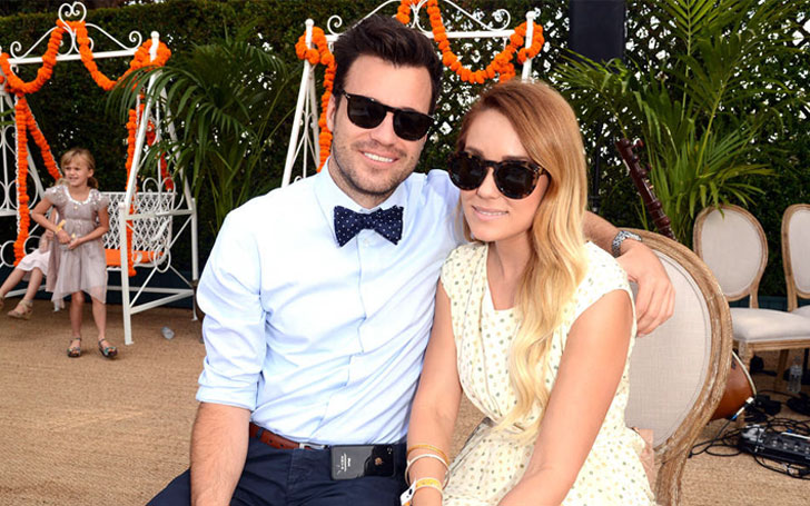 Lauren Conrad is expecting her first child with husband William Tell. Shared the news via Instagram showing a cute baby bump in a bikini