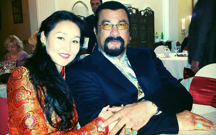 Erdenetuya Seagal Married to American Martial Artist & Actor Steven Seagal since 2009; They share one Son named Kunzang Seagal