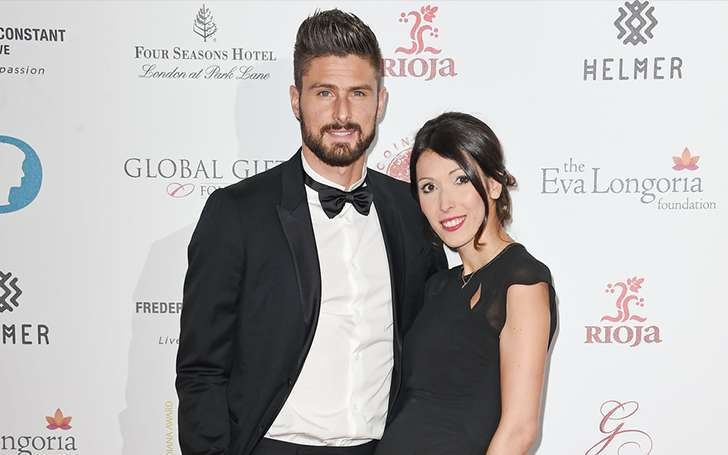 Olivier giroud and his Wife Jennifer Giroud happily Married since 2011; Couple is expecting their third Child