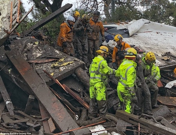 Celebrities Including Oprah Winfrey, Jimmy Conners Trapped In Devastating California Mudslide: 13 Reported To Be Dead!