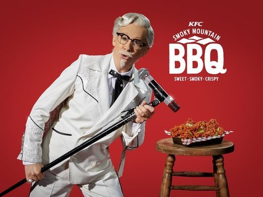 KFC Releasing Its New Smoky Mountain BBQ-Country Singer Reba McEntire Plays Colonel Sanders!