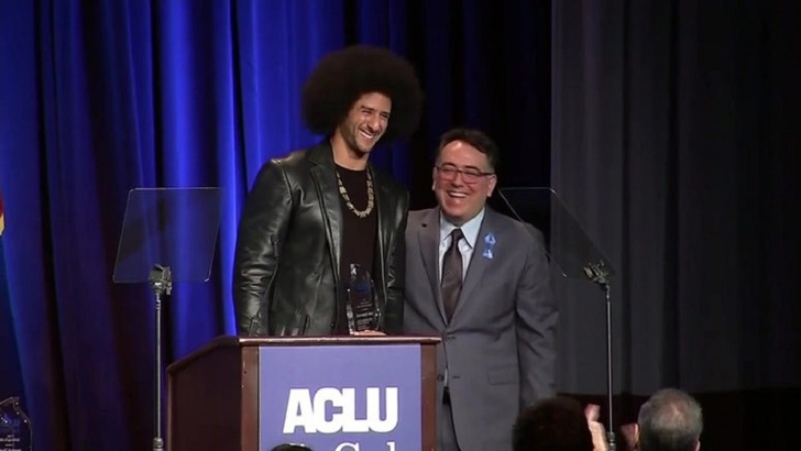 NFL Player Colin Kaepernick Honored At The Star-Studded ACLU Bill of Rights Dinner, Stars Talk About Equality and Sexual Assault