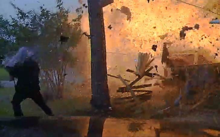 Texas House Blasts Into Fireball After A SUV Hit The House
