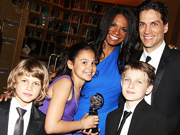 Audra McDonald and Will Swenson with family