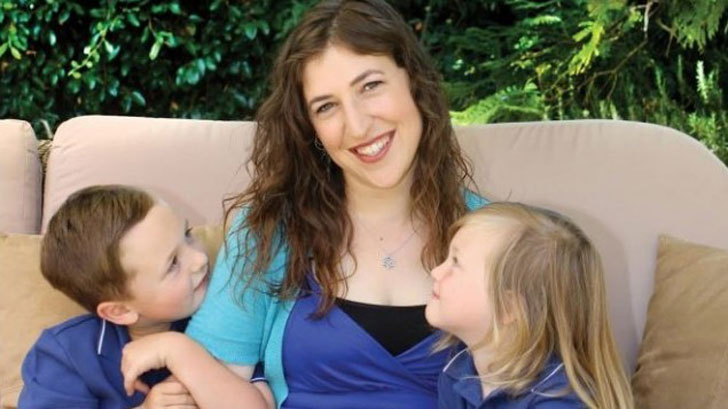 Mayim and her two children