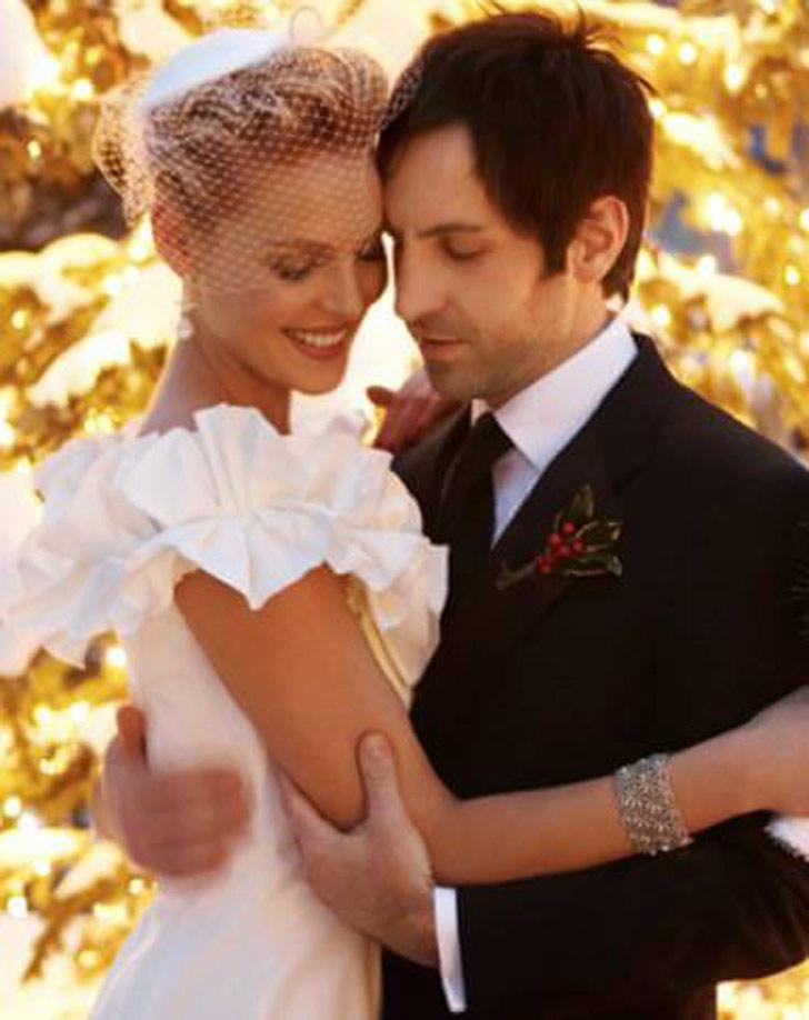 Katherine Heigl and Josh Kelly on their wedding day