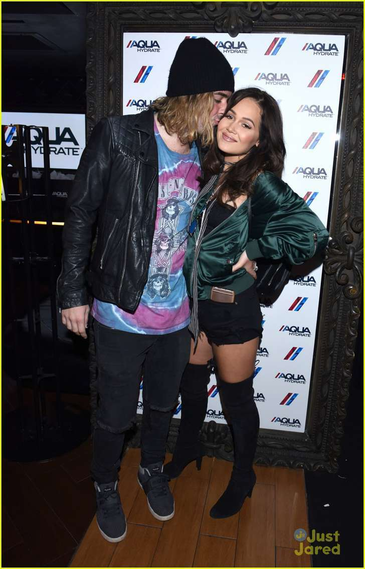 Kelli berglund and tyler wilson at drake concert
