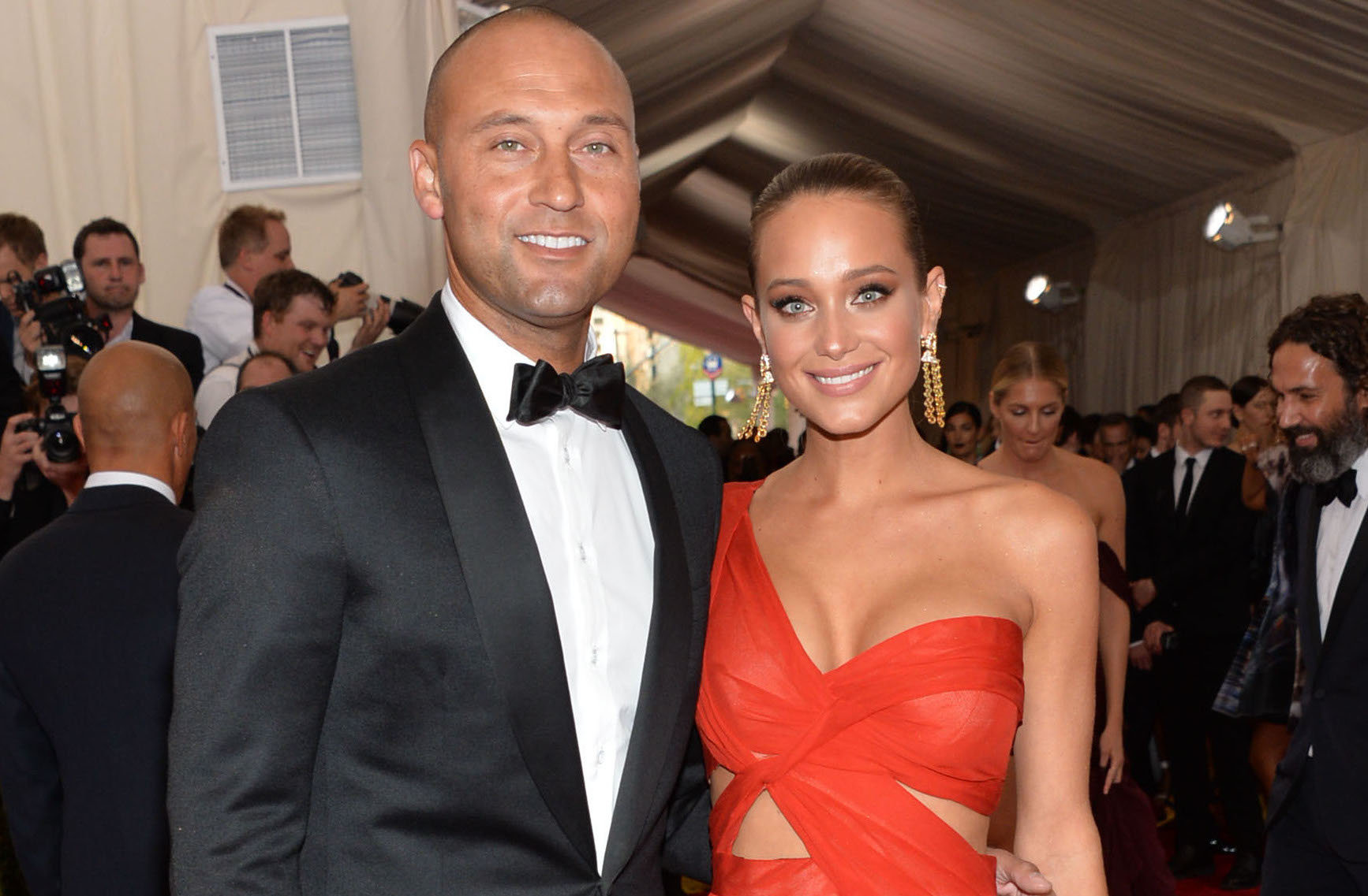 Hannah Davis and Derek Jeter getting married and are happy to be called as husband and wife