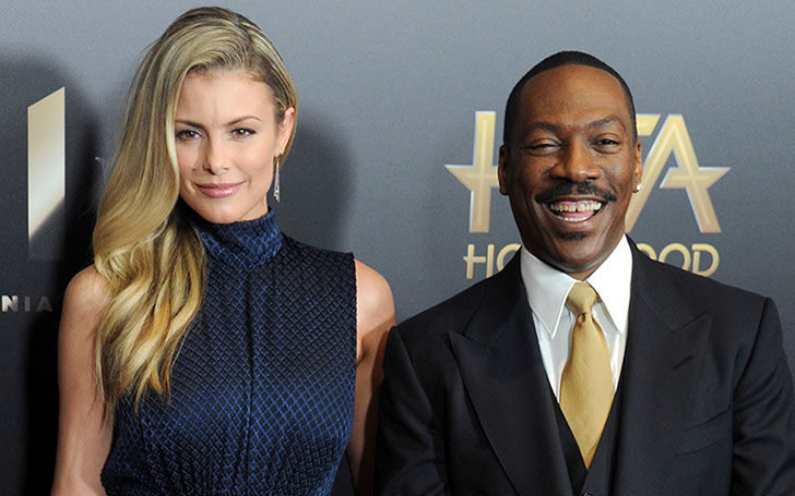 Paige Butcher and Eddie Murphy welcoming baby