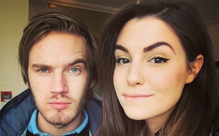 Cutie Pie Marzia and PewDiePie in a good relationship